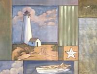 Lighthouse Collage I Framed Print