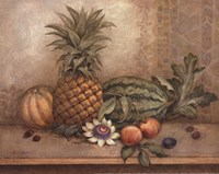 Pineapple And Passion Flower - Mini Fine Art Print