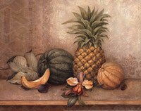 Pineapple And Orchid - Mini Fine Art Print