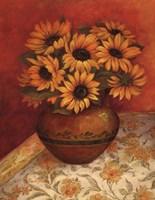 Tuscan Sunflowers I Framed Print