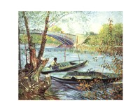 A Fisherman in His Boat Fine Art Print