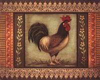 Mediterranean Rooster I Framed Print