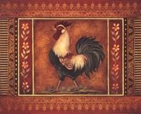 Mediterranean Rooster III Framed Print
