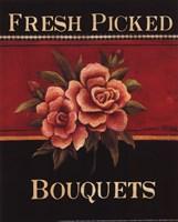Fresh Picked Bouquets - Mini Framed Print