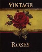 Vintage Roses - Mini Fine Art Print