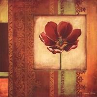 Mediterranean Floral I Framed Print
