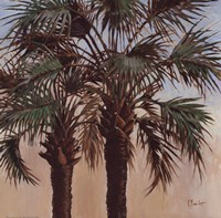 Twin Palms - Mini Framed Print