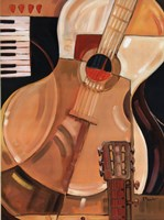 Abstract Guitar - Mini Fine Art Print