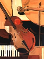 Abstract Violin - Mini Fine Art Print