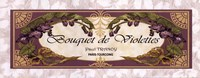 Bouquet De Violettes - Grande Framed Print