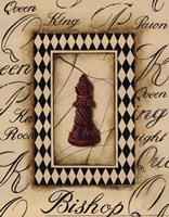 Chess Bishop - Mini Framed Print