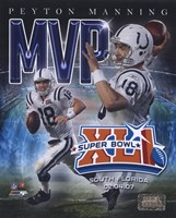 Peyton Manning - '06 SuperBowl XLI MVP Portrait Plus Framed Print