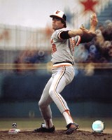 Jim Palmer - Pitching Action Fine Art Print