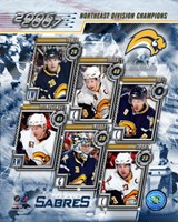 '06 / '07 Sabres Eastern Division Champions Composite Fine Art Print