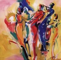 Jazz Explosion I Framed Print