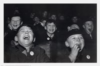 Boys Laugh at Children's Movie Session Fine Art Print