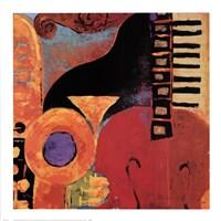 Juxta Jazz IV Framed Print