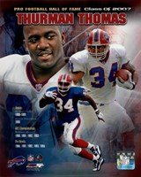 Thurman Thomas - legends Composite Fine Art Print