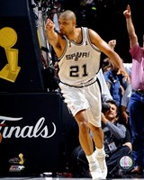 Tim Duncan - 2007 Finals  / Game 1 Pointing (#3) Fine Art Print