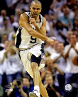 Tony Parker - 2007 Finals  / Game 1 Celebrates (#1) Fine Art Print