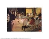 Ballet School, c. 1876 Framed Print