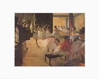 Ballet School, c. 1874 Framed Print
