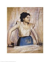 Girl At Ironing Board Fine Art Print