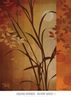 Autumn Sunset I Framed Print