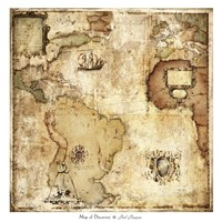 Map of Discovery Framed Print