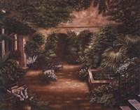 Courtyard in New Orleans II Fine Art Print