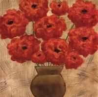 Crimson Explosion II Fine Art Print