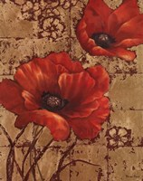 Poppies on Gold I Fine Art Print