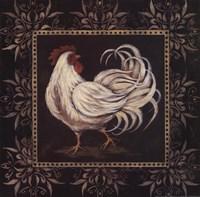 Black & White Rooster II Fine Art Print