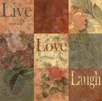 Shabby Chic 9 patchLive Laugh Love Fine Art Print