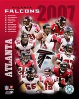 2007 - Falcons Team Composite Fine Art Print