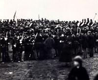 Abraham Lincoln / Gettysburg Address 1863 Fine Art Print
