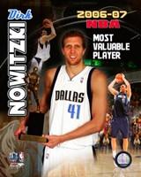 Dirk Nowitzski - 2007 NBA M.V.P. / Portrait Plus Fine Art Print
