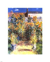 The Artist's Garden at Vetheuil Fine Art Print