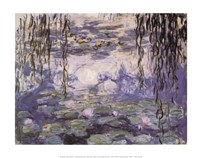 Water Lilies and Willow Branches, c.1917 Fine Art Print
