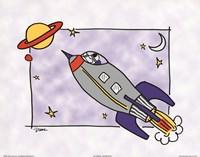 Rocketship I Framed Print