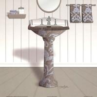 Damask Sink I Framed Print
