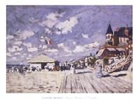 Sur les planches de Trouville Fine Art Print