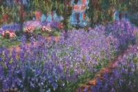 The Artist's Garden at Giverny, c.1900 Framed Print