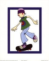 Skater Guy Framed Print