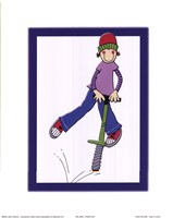 Pogo Guy Framed Print