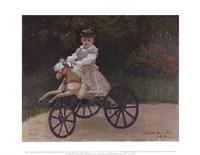 Jean Monet on His Hobby Horse, 1872 Fine Art Print