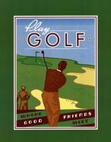 Play Golf Framed Print