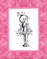 Tiny Ballerina Framed Print