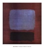 No. 37/No. 19 (Slate Blue and Brown on Plum), 1958 Fine Art Print