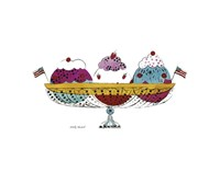 Ice Cream Dessert, c.1959 (3 scoop) Fine Art Print